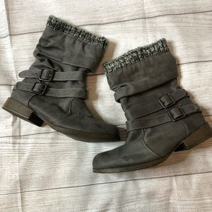 Just Fab Morlan Womens Size 6 Gray Sweater Boots